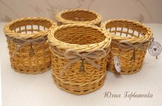 Юлия Горбатенко Weaving, Paper Crafts, Baskets, Home Decor, Diy, Hampers, Wicker, Bricolage, Papercraft