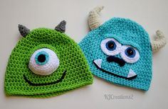 Crochet Monster Hat-Made to order di su Etsy Crochet Baby Clothes, Crochet Baby Hats, Crochet Beanie, Knit Or Crochet, Crochet Crafts, Yarn Crafts, Crochet Projects, Knitted Hats, Crochet Headbands