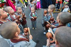Little Buddhas on Jeju Island, South Korea.