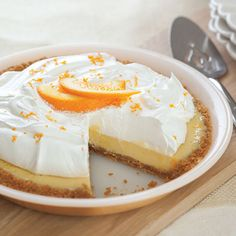 This pie tastes just like the old-fashioned Creamsicle frozen treat. - Paula Deen