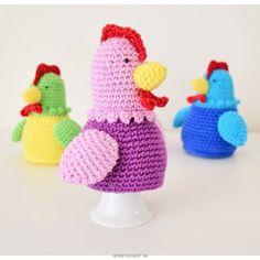 Crochet Egg Cozy, Easter Crochet, Free Crochet, Happy Easter, Hello Kitty, Dinosaur Stuffed Animal, Crochet Patterns, Diy, Holiday