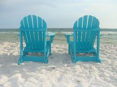 Vibrant Colored Polywood Adirondack Chairs
