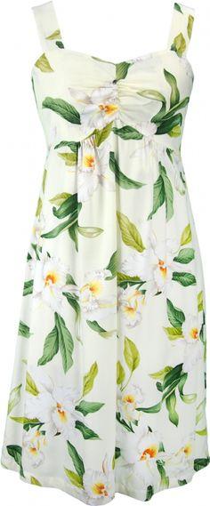 7ab54657f09e Aloha Kai Hawaiian Print Sun Dress in Beige Hawaiian Fashion