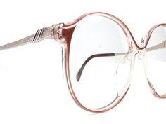 6ec0ad308931 Vintage 70s deadstock round eyeglasses drop arm oversized frame ...