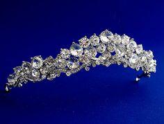 Sparkling Swarovski crystal tiara Swirling by ALBridalAccessories