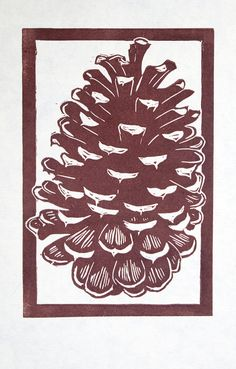 Pine Cone relief print by Susan | Flickr