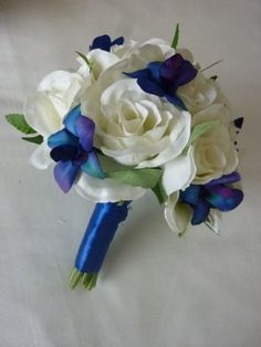 Rose and Blue Orchid BM Bouquet