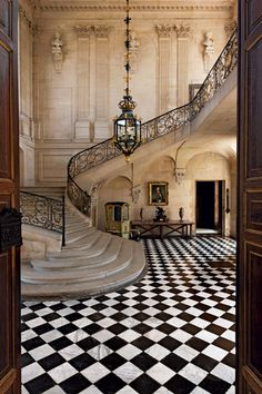Your next stairwell. The Grand Staircase Hall of The Château d'Anet in northern France, built by Phil Beautiful Architecture, Beautiful Buildings, Interior Architecture, Beautiful Homes, Interior Design, Staircase Architecture, Beautiful Places, Luxury Interior, Modern Interior