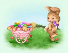 The use of elaborate Easter baskets would come later as the tradition of the Easter Bunny spread throughout the country. Description from pennyparker2.com. I searched for this on bing.com/images