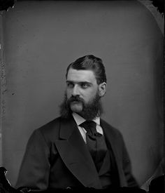 Clearly Mr. J. F. Sutton here was not a man who shied away from facial hair! (Image taken by William James Topley, Ottawa, Canada, April 1872.) #Victorian #Canada #portraits #men