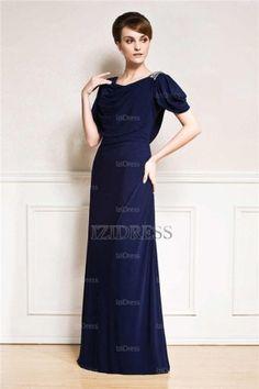 A-Line/Princess Cowl Floor-length Chiffon Evening Dress - IZIDRESSES.com
