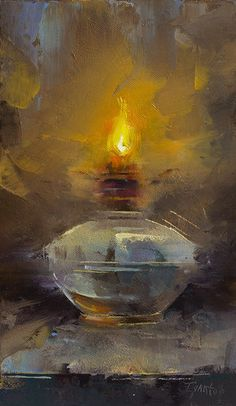 43 Oil Lamp, Fire, Light Oil Painting Drawing Ideas - New Light Painting, Painting & Drawing, Watercolor Paintings, Still Life Art, Painting Still Life, Traditional Paintings, Acrylic Painting Canvas, Knife Painting, Painting Techniques