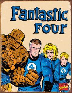 Fantastic Four Marvel Retro Comics Tin Sign
