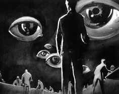 """Dream sequence created by Salvador Dalì for """"Spellbound"""", 1945 (dir. Alfred Hitchcock) - from pokingsmot.net"""