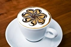 Stunning #latte art. #Coffee can never have too many swirls :)