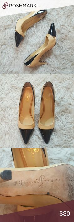 Ivanka trump beige and black stilettos Size 9.5 in good condition. A few signs of wear but no major flaws. Super chic!  No lowballers please! Ivanka Trump Shoes Heels