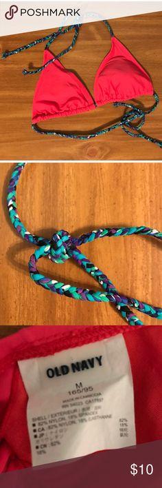 Children's Bikini Top 👙children's medium string bikini top from old navy with multi colored straps and removable padding 👙 Old Navy Swim Bikinis