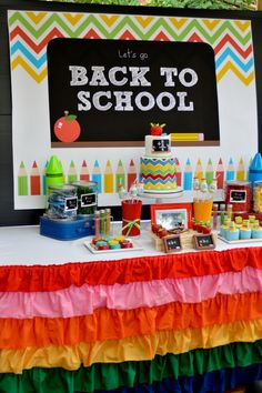 back-to-school-party, chevrons are always cool!