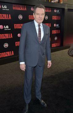 """#BryanCranston en el estreno angelino de la cinta """"Godzilla"""". http://on-msn.com/1fV6fAl"""