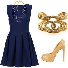 Cute navy blue dress- rehearsal dinner dress