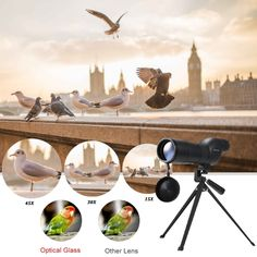 Kkmoon 15-45x60mm Zoom Spotting Scope Telescope Multi-Coated Optical Lens 180�� with Tripod & Carrying Bag for Birdwatching Hunting   Camping Moutaineering Naturalist