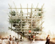 milan expo 2015: austrian pavilion naturally yours 1st runner up - designboom | architecture