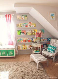 bring color to the walls with books!