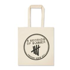 5SOS Derping Stamp Tote Bag in natural.