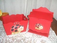 caja portacosmeticos + pañalera, ideal baby shower