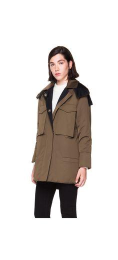 Two coloured cotton coat - Bimba y Lola AW14