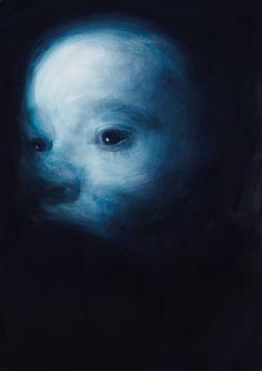 Payton Blue 6,2009,oil and acrylic on canvas. Gottfried Helnwein.