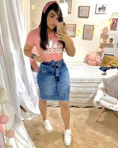 Source by ranjdarmail juvenil femenina moda gorditas Cute Skirt Outfits, Girly Outfits, Cute Skirts, Casual Skirts, Classy Outfits, Stylish Outfits, Pink Fashion, Trendy Fashion, Fashion Outfits
