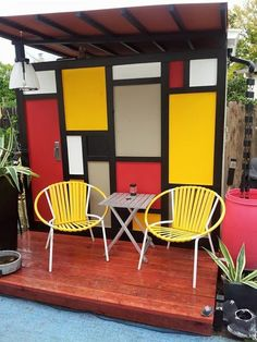 Awesome Mondrian style door / wall Mid Century Modern / vintage / MOD