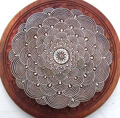 Hand Carved Very Large Round Wood Stamp Indian by PrintBlockStamps, $79.95