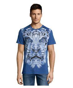 JUST CAVALLI MEN'S CREWNECK BEDAZZLED TIGER T-SHIRT'. #justcavalli #cloth #t-shirts