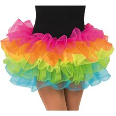 rave tutu ❤ liked on Polyvore featuring skirts, dance, rave and tutu