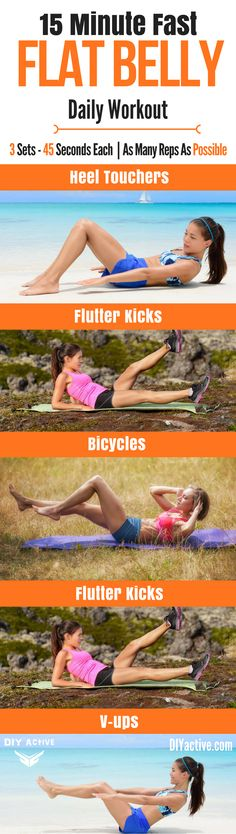 Burn fat fast with this quick, flat belly workout! Pair it with this healthy habit-building, healthy weight loss plan toda. It's a CAN'T MISS! @DIYactiveHQ #fatloss