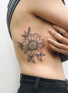 Sunflower rib tattoo flower tattoo on ribs, small rib tattoos, flower tattoo designs, Sunflower Tattoo Sleeve, Sunflower Tattoo Shoulder, Sunflower Tattoo Small, Sunflower Tattoos, Sunflower Tattoo Design, Shoulder Tattoo, Sunflower Mandala Tattoo, Girl Rib Tattoos, Finger Tattoos