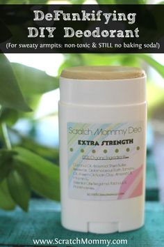 Scratch Mommy's DIY DeFunkifying Deodorant Recipe. Only sweaty armpits need check out this bad girl (or you want an effective organic deodorant solution.)