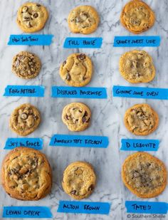 The {Great} Chocolate Chip Cookie Challenge Have you ever wanted to know which chocolate chip cookie is actually the best? I spent one weekend making 12 batches of cookies to find the winner. Baking Tips, Baking Recipes, Dessert Recipes, Cake Recipes, Best Chocolate Chip Cookie, Chocolate Chip Oatmeal, Chocolate Chocolate, Healthy Chocolate, Levain Cookies