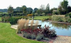 Large backyard landscaping ideas are quite many. However, for you to achieve the best landscaping for a large backyard you need to have a good design. Large Backyard Landscaping, Ponds Backyard, Landscaping With Rocks, Modern Landscaping, Landscaping Ideas, Garden Ponds, Water Plants, Water Garden, Big Garden
