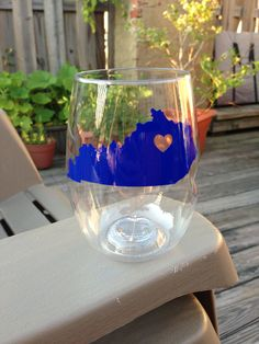 State wine glasses  I want this @Emily Schoenfeld Schoenfeld Brannon  Even though I don't drink wine