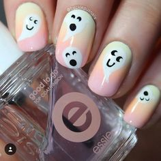 """Little ghosties by @frecklepusnails!"""