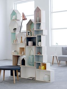 bloomingville - what a fun shelving system!