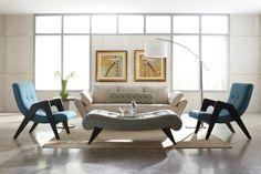 original conjunto de muebles modernos de estilo vintage