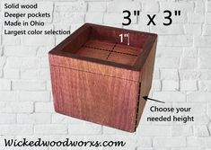 We made solid wood furniture/bed risers to help people get up from a seated position easier, sleep better and gain storage space. Furniture Risers, Bed Furniture, Furniture Making, Bed Risers, Custom Made Furniture, Solid Wood Furniture, Painted Furniture, Painted Cottage, Shabby Cottage