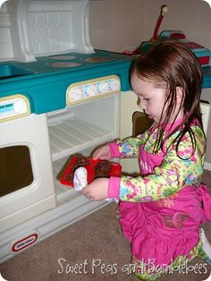 How to bake real cookies in your play kitchen - this is the sweetest idea to do with your kids!