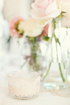 Love the tea light holder  Photography By / http://peachesandmint.com,Planning By / http://perfektehochzeit.at