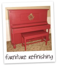 refinishing furniture.....and wow! am gonna have a piano makeover real soon! thanks to a good friend, for giving us her son's old but still working piano....best thing is, it was for FREE! @May del Rosario