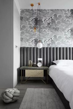 Headboard design Ideas for a creative and original bedroom decor ITALIANB . - Headboard design Ideas for a creative and original bedroom decor ITALIANBARK – Bedroom – - Home Design, Modern Interior Design, Design Ideas, Luxury Interior, Wall Design, Masculine Interior, Top Interior Designers, Global Design, Design Styles